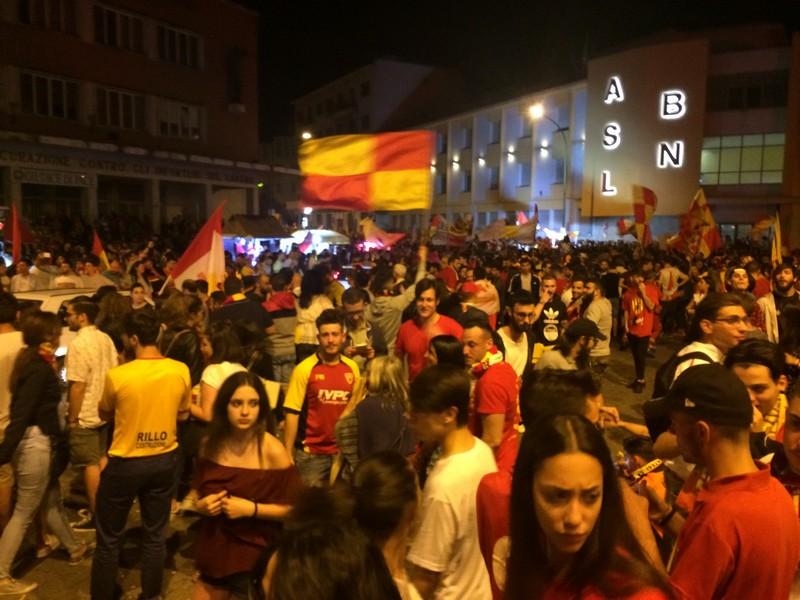 Tifosi Benevento - Festa serie A (11)