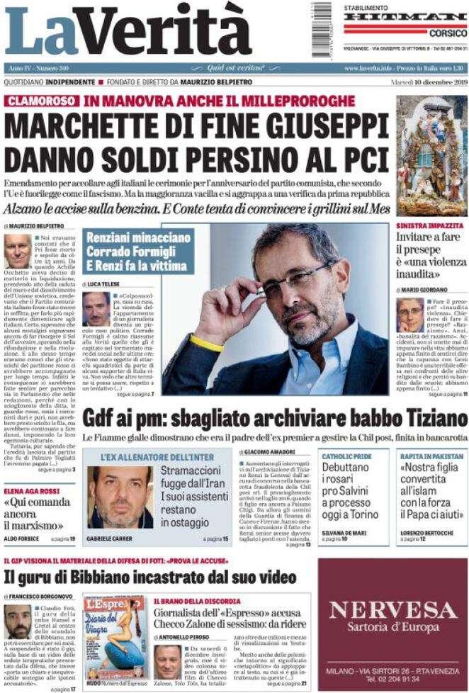 Rassegna stampa del 10 dicembre le prime pagine dei for Camera dei deputati rassegna stampa