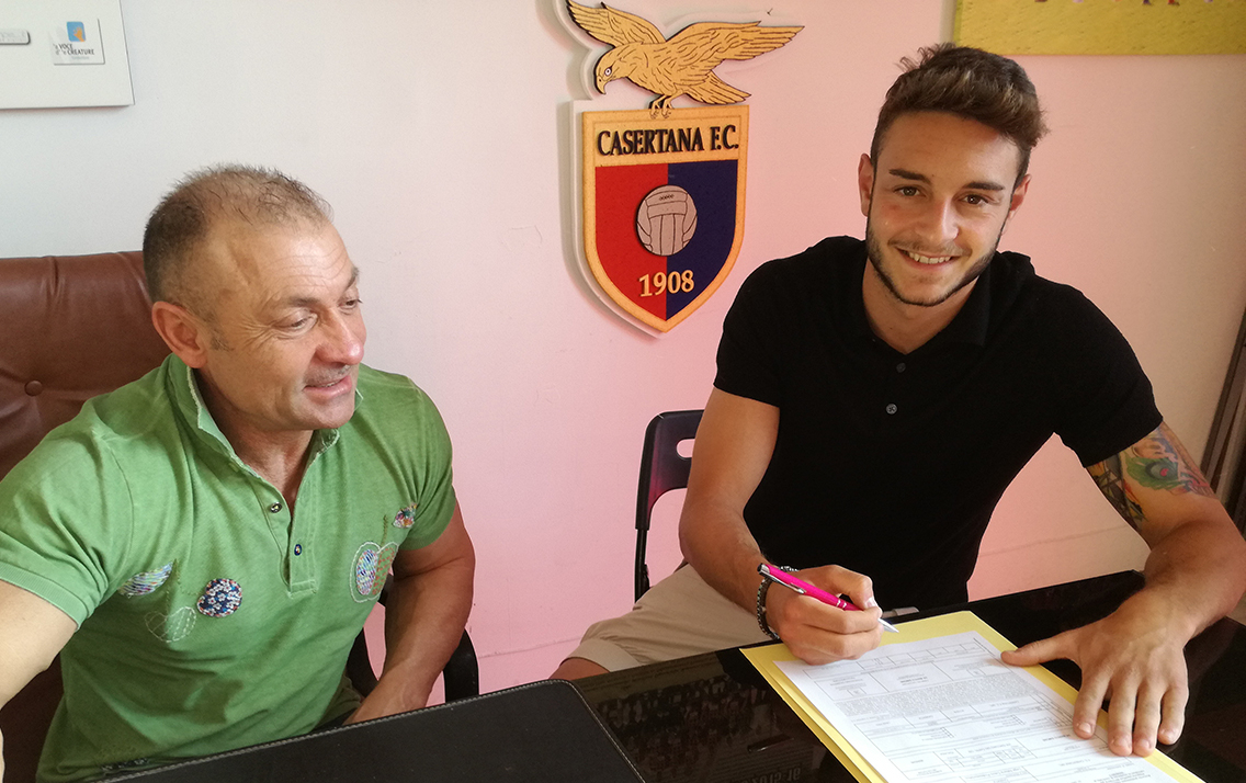 La Casertana e De Marco ancora insieme: prolungato il contratto