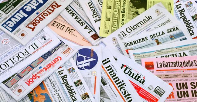 Rassegna stampa del 18 aprile: sfoglia le prime pagine dei quotidiani