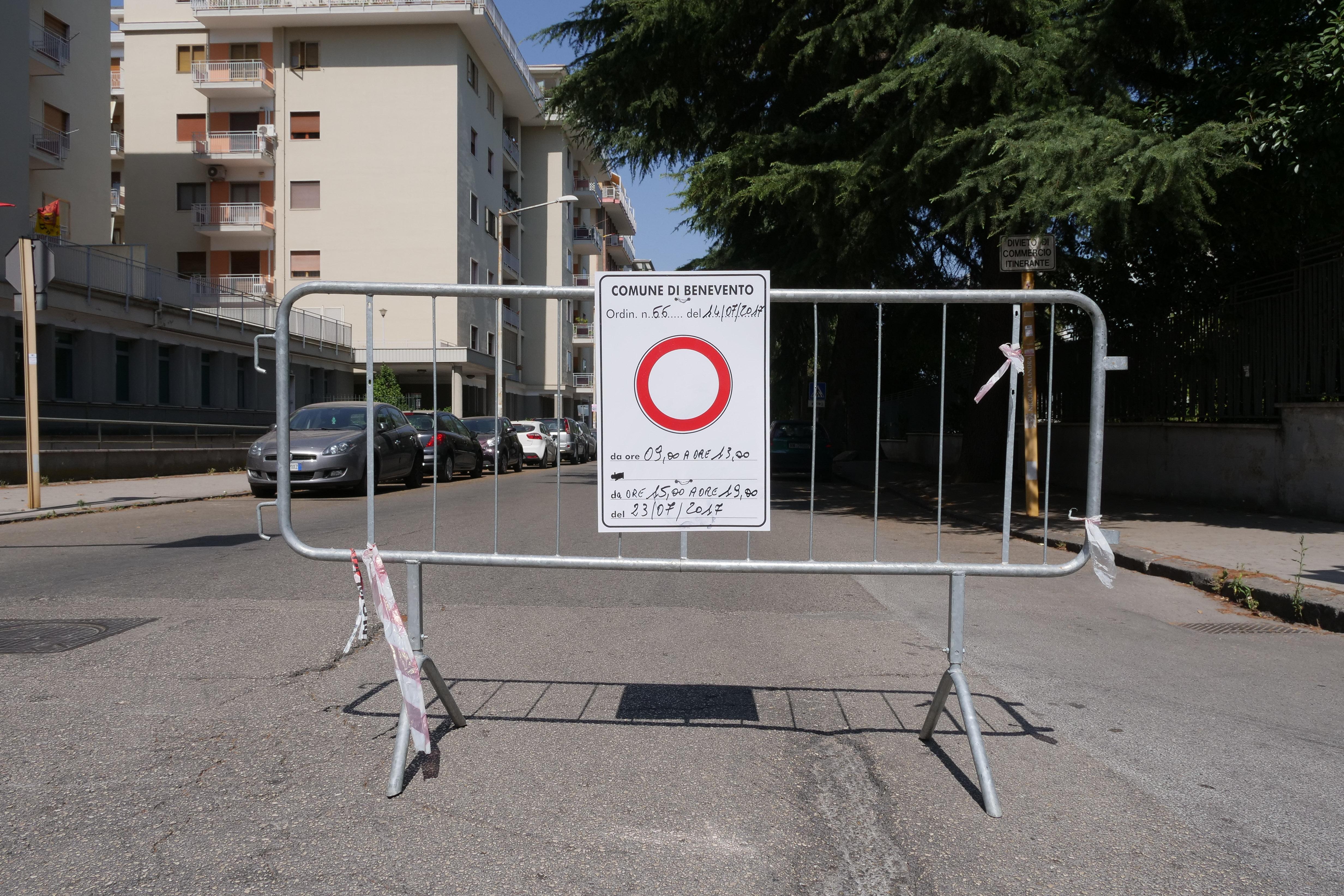 Benevento, domenica ennesimo stop alla circolazione: le zone interessate