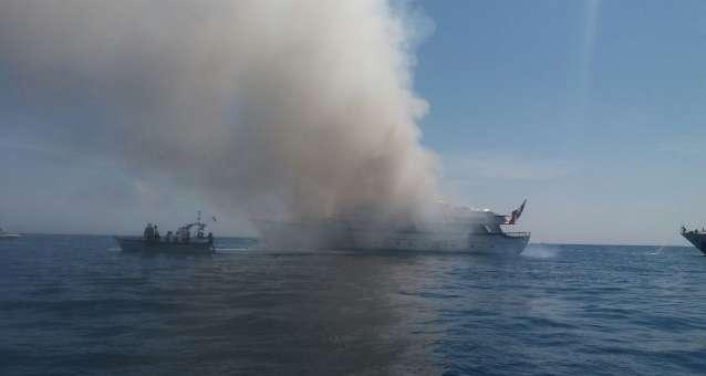 Yacht di Diana Bracco in fiamme a Nizza