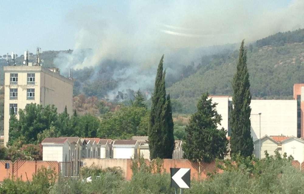 Un incendio sta devastando l'area tra Puccianiello e la panoramica di Casertavecchia