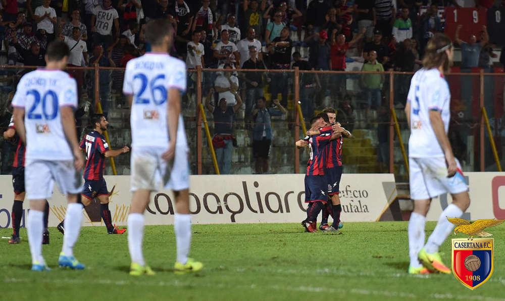 Casertana boom boom, De Marco segna e il Catania va al tappeto