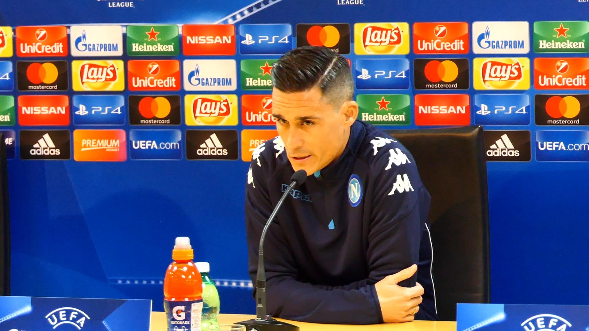 """Napoli, Callejon: """"Contro l'Arsenal vogliamo scrivere pagina storica"""""""