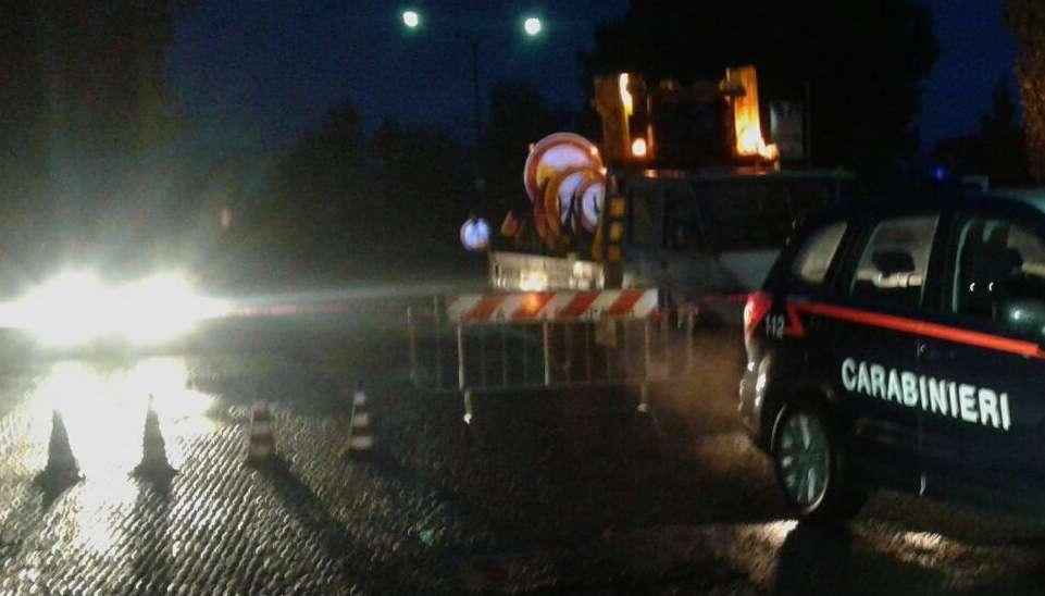 Carabinieri sequestrano parte della strada statale 7