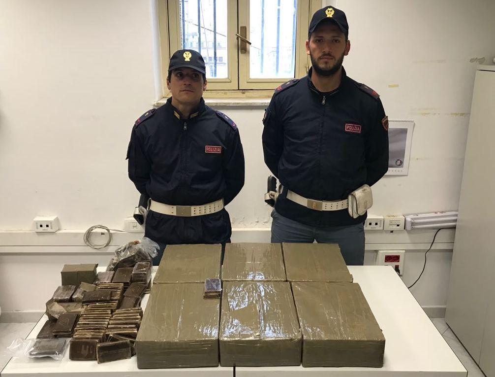 Sequestrati 70 chili di hashish sulla Palermo-Catania: un napoletano tra gli arrestati