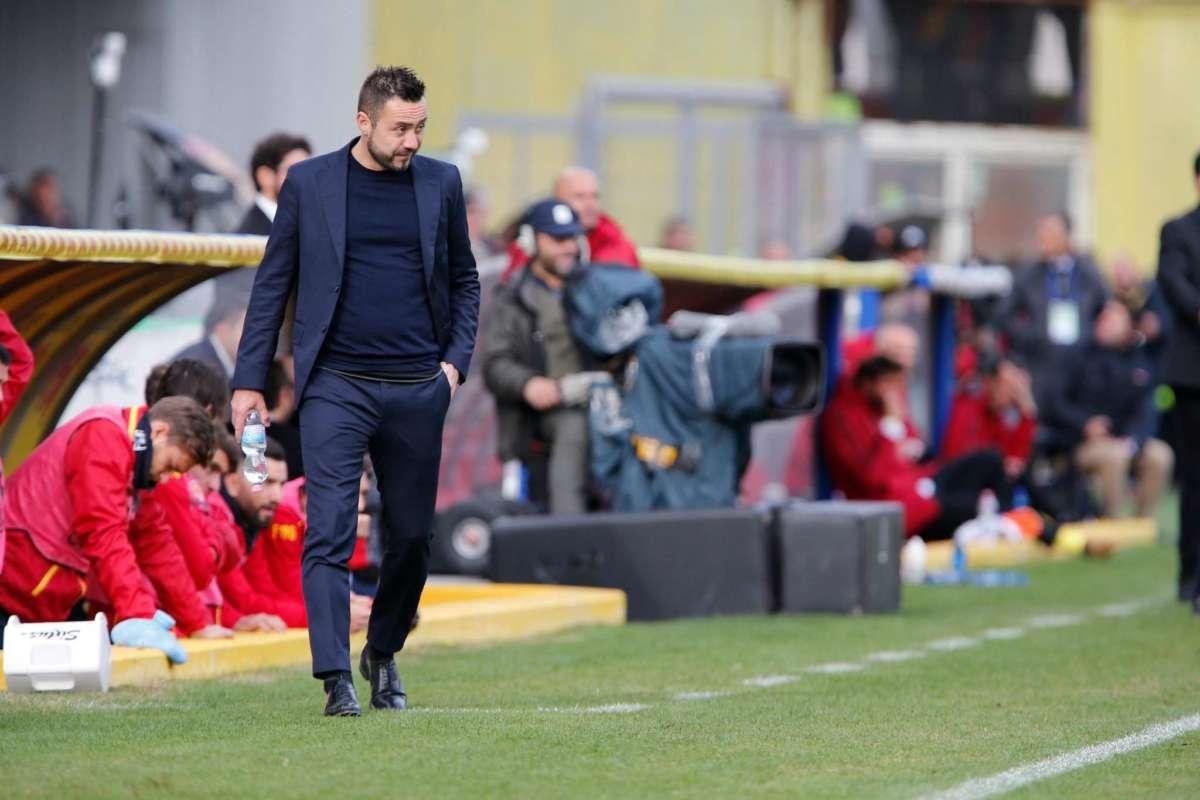 """De Zerbi: """"Un successo che resterà nella storia del Benevento e mia"""""""
