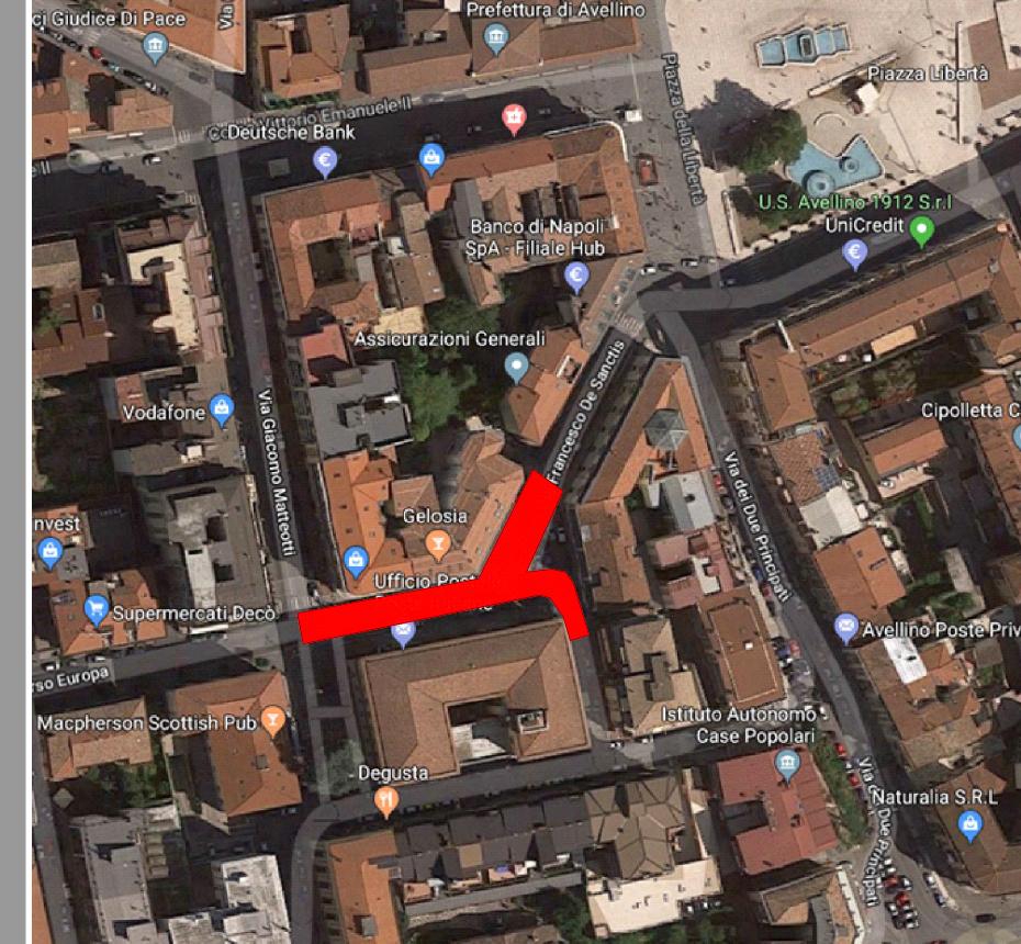 Nuovo Asfalto a via Francesco De Sanctis, strada chiusa il 22 gennaio