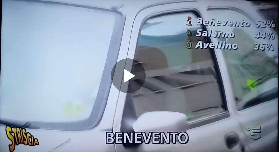 Benevento ancora su Striscia, dato negativo per i sanniti al volante