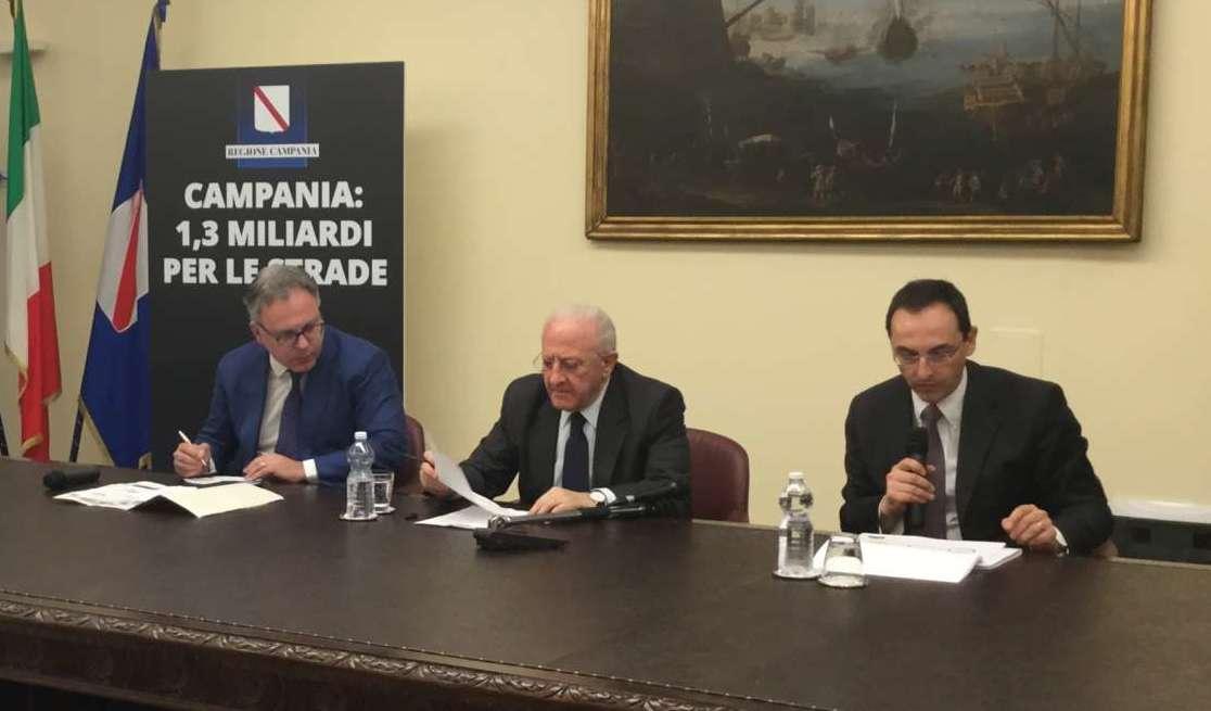 Regione-Anas, sottoscritte convenzioni per 19,4 milioni di euro