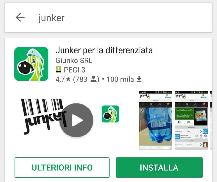 Raccolta differenziata ecco junker l 39 app gratuita del comune for Progress caserta prodotti