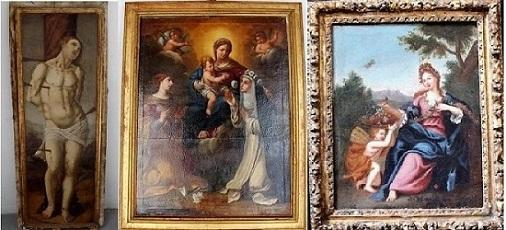Sequestrate 37 opere d'arte, da chiese terremotate a ville Costiera
