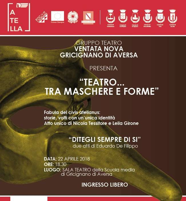 Tornano gli eventi del progetto 'Atella', domenica appuntamento in teatro