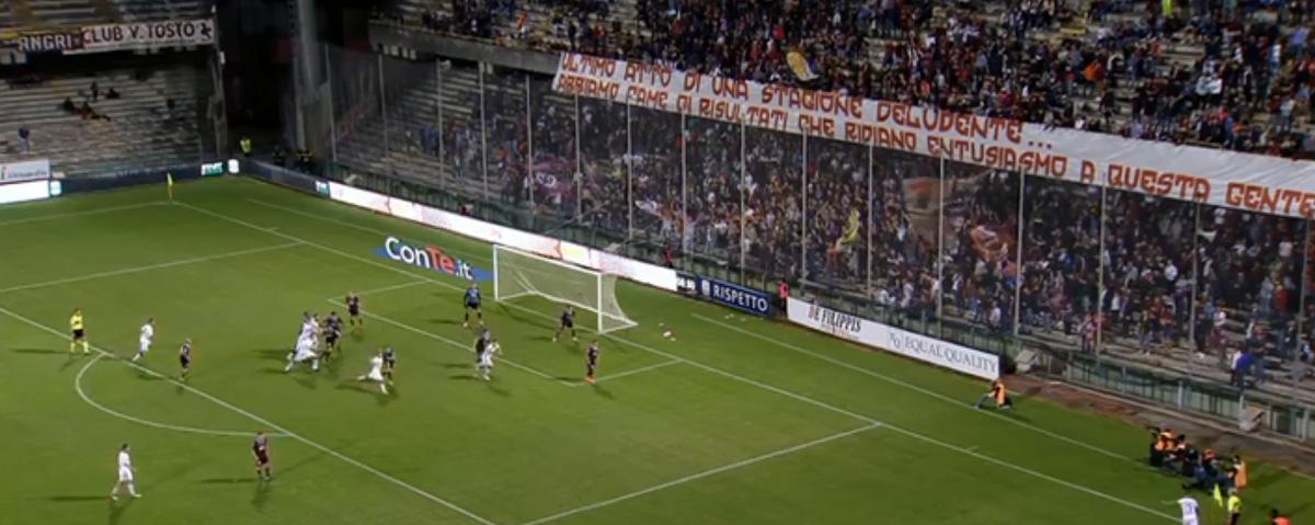 Una brutta Salernitana saluta la Coppa Italia, granata sconfitti a Chiavari