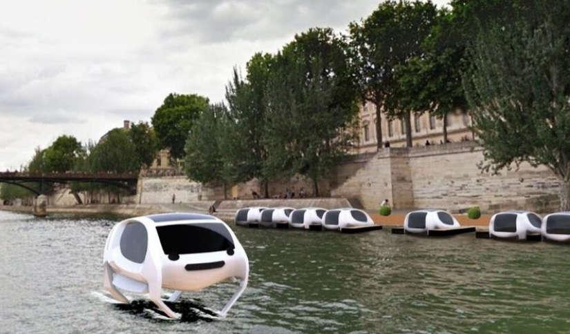 """Parigi, arrivano i """"Sea Bubbles"""", taxi volanti lungo la Senna"""