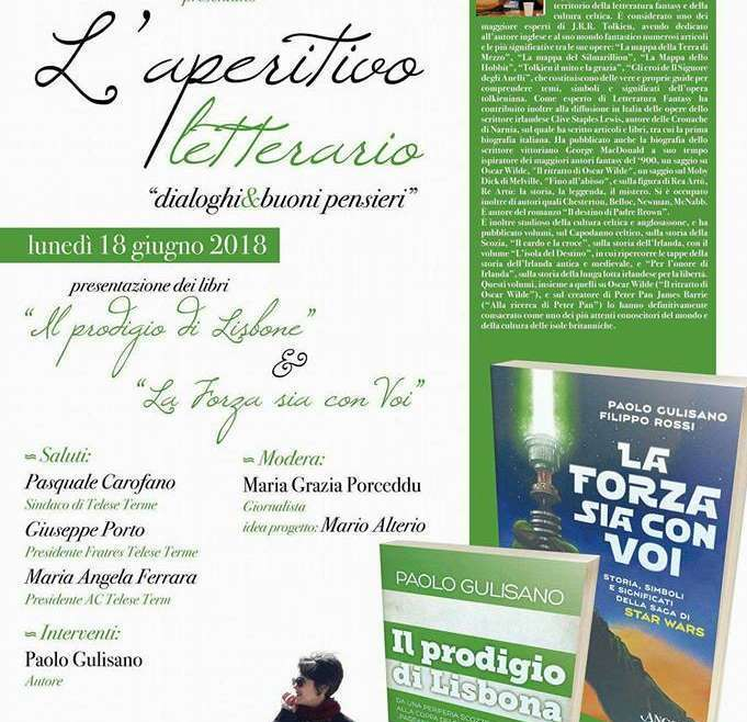 Telese Terme: ultimo aperitivo letterario, si chiude con Paolo Gulisano e Rita Pacilio