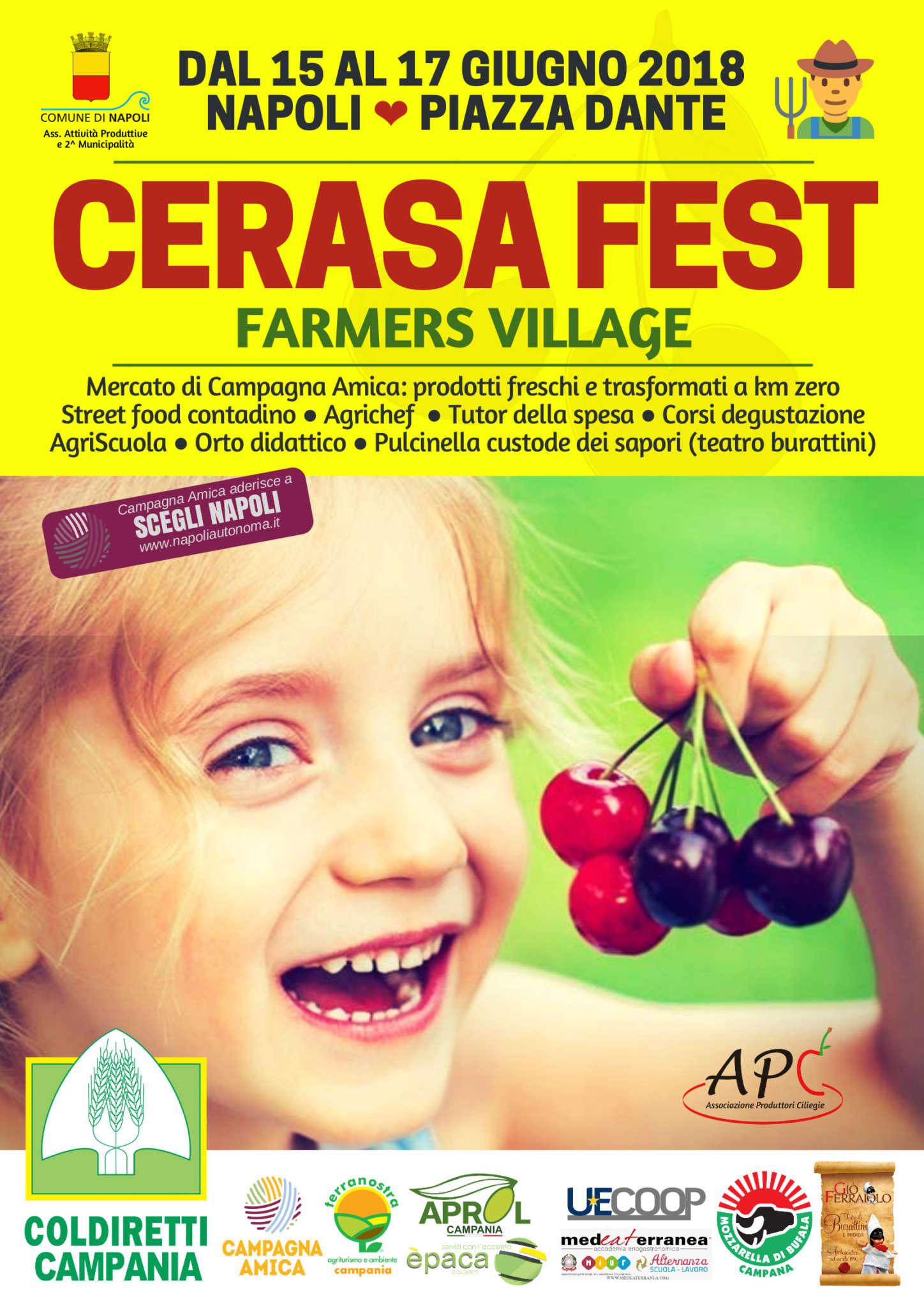 """""""Cerasa Fest"""", Coldiretti porta il farmers village nel cuore di Napoli"""