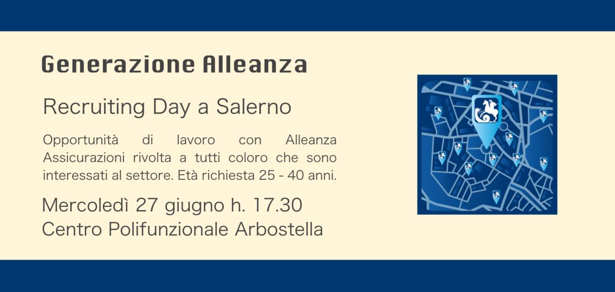 Recruiting Day: opportunità di lavoro con Alleanza Assicurazioni a Salerno