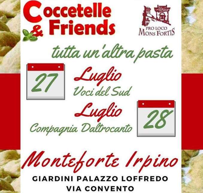 "Attesa a Monteforte Irpino per l'evento ""Coccetelle & Friends"""