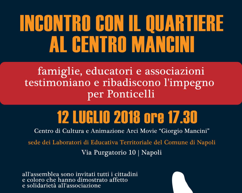 """Furto al centro """"Mancini"""" di Ponticelli, Arci Movie indice un'assemblea pubblica"""