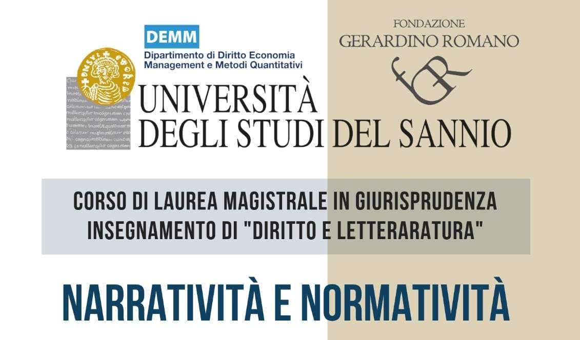 """""""Diritto e Letteratura"""": seminario all'Unisannio su """"Narrativa e normatività"""""""