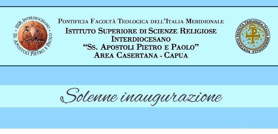 """Solenne inaugurazione dell'I.S.S.R. Interdiocesano """"Ss. Apostoli Pietro e Paolo"""""""
