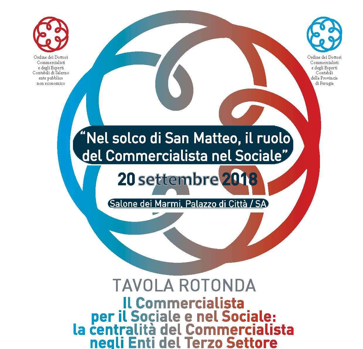 Commercialisti e Terzo Settore, il 20 settembre Tavola Rotonda a Salerno