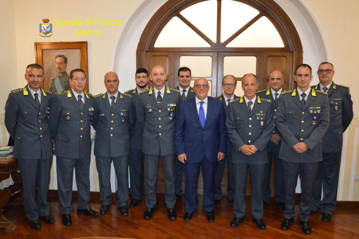 Visita del Prefetto di Salerno al Comando Provinciale delle Fiamme Gialle