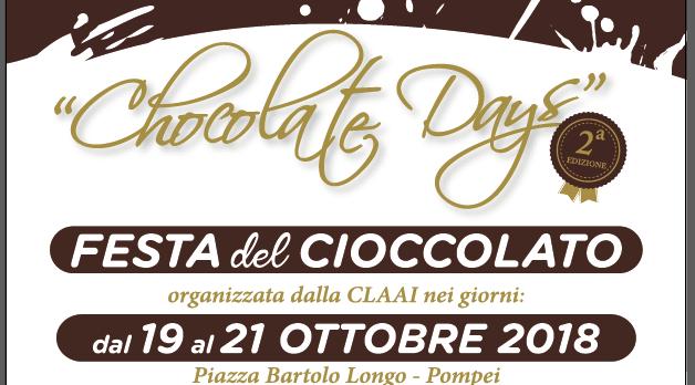 Pompei, dal 19 ottobre la Festa del Cioccolato Artigianale