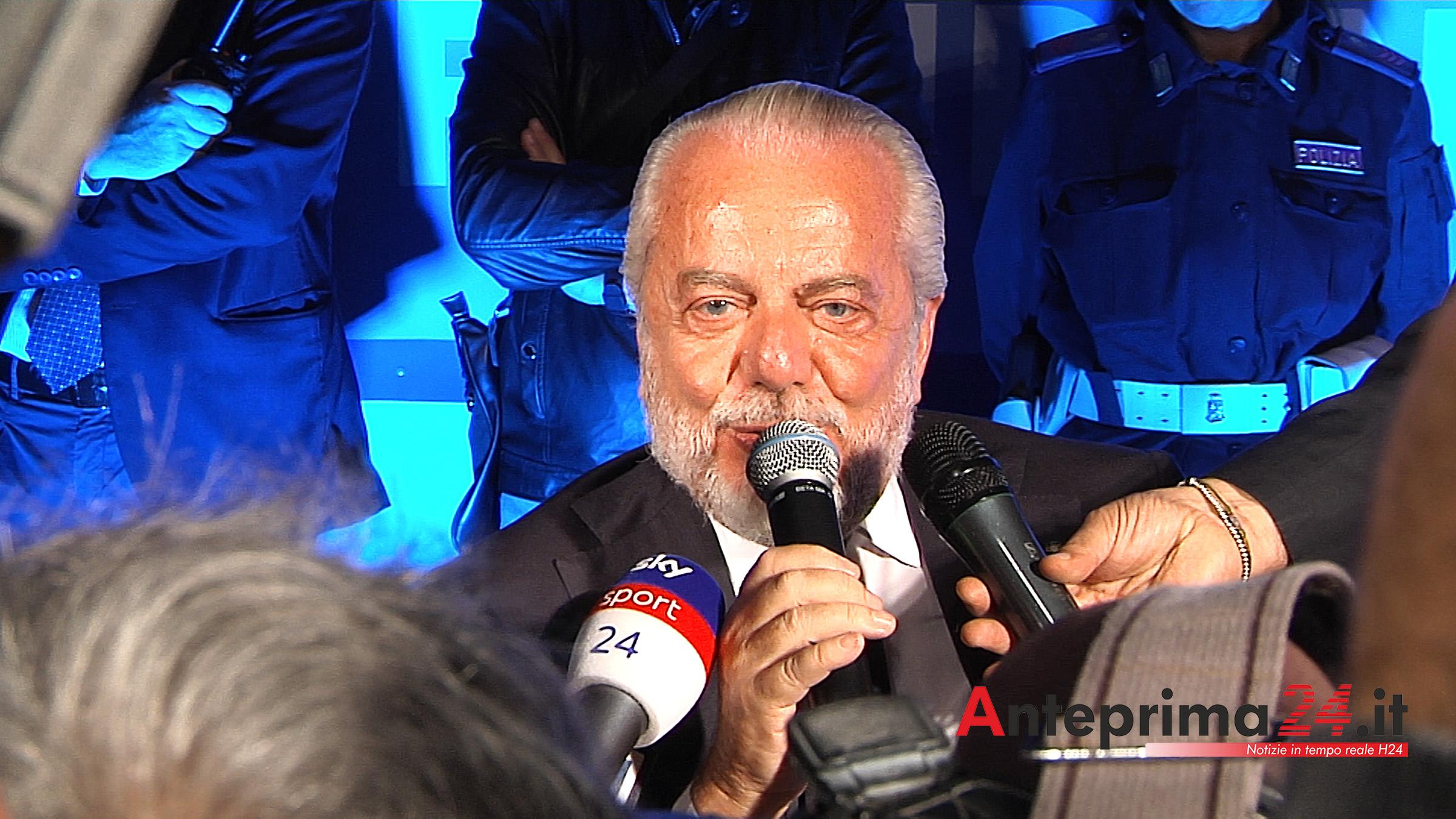 """Napoli, De Laurentiis sullo scudetto: """"Le speranze non muoiono mai"""""""