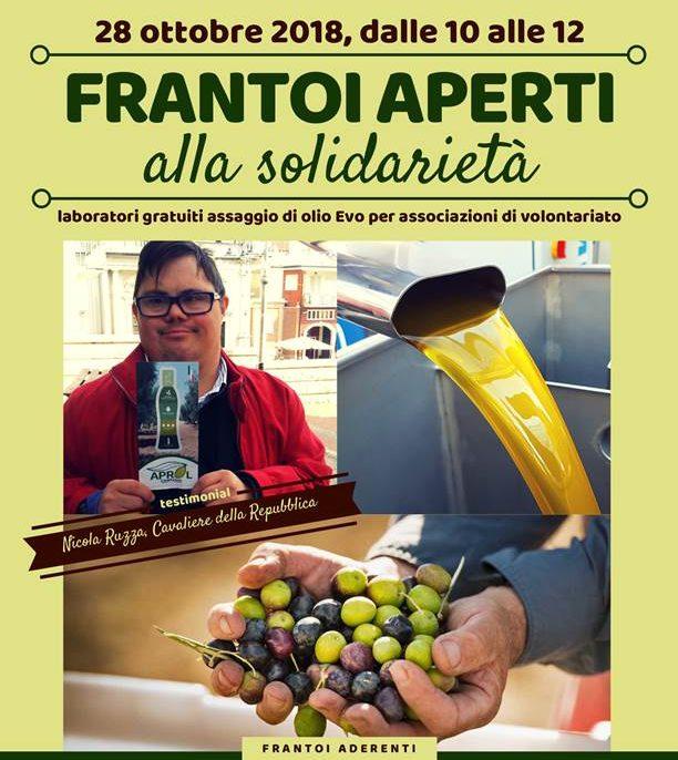 Frantoi aperti alla solidarietà in Campania, appuntamento per il 28 ottobre