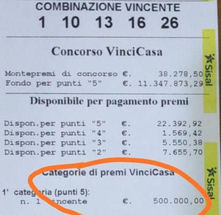 La fortuna bacia Benevento, vinti 500.000 euro al Gran Caffè Messina