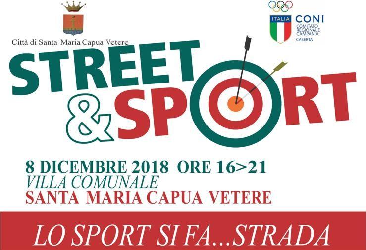 """""""Street e Sport"""", l'8 dicembre lo sport si fa strada a Santa Maria Capua Vetere"""