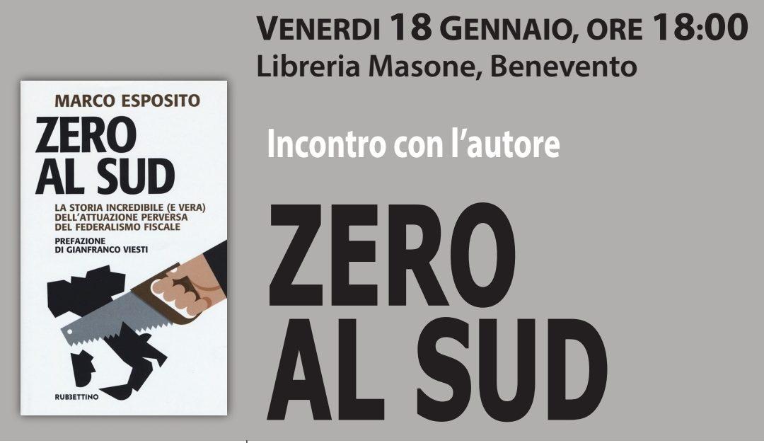 """""""Zero al Sud"""", venerdì la presentazione alla libreria Masone"""