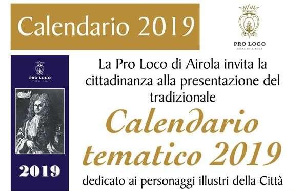 La Pro Loco di Airola presenta il Calendario Tematico 2019