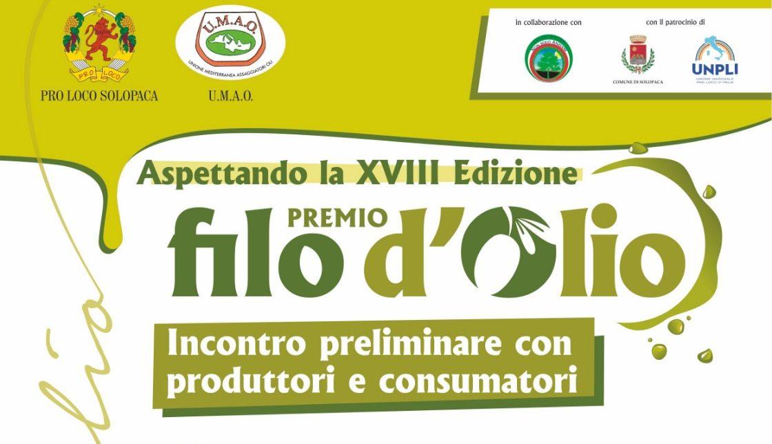 """A Solopaca """"Premio Filo d'olio"""" con produttori e consumatori di evo"""