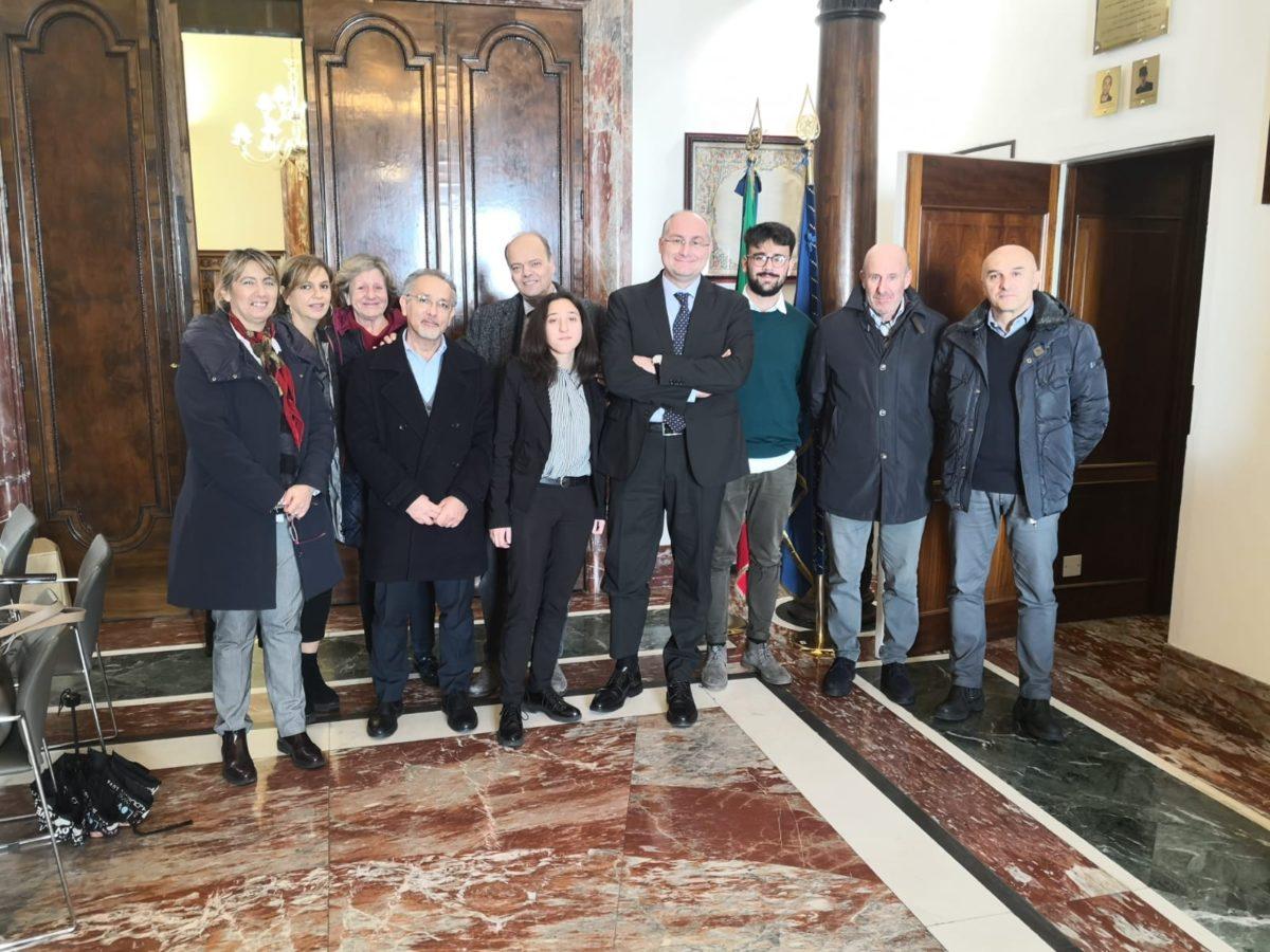 Strianese incontra una delegazione del Liceo Parmenide di Vallo Della Lucania