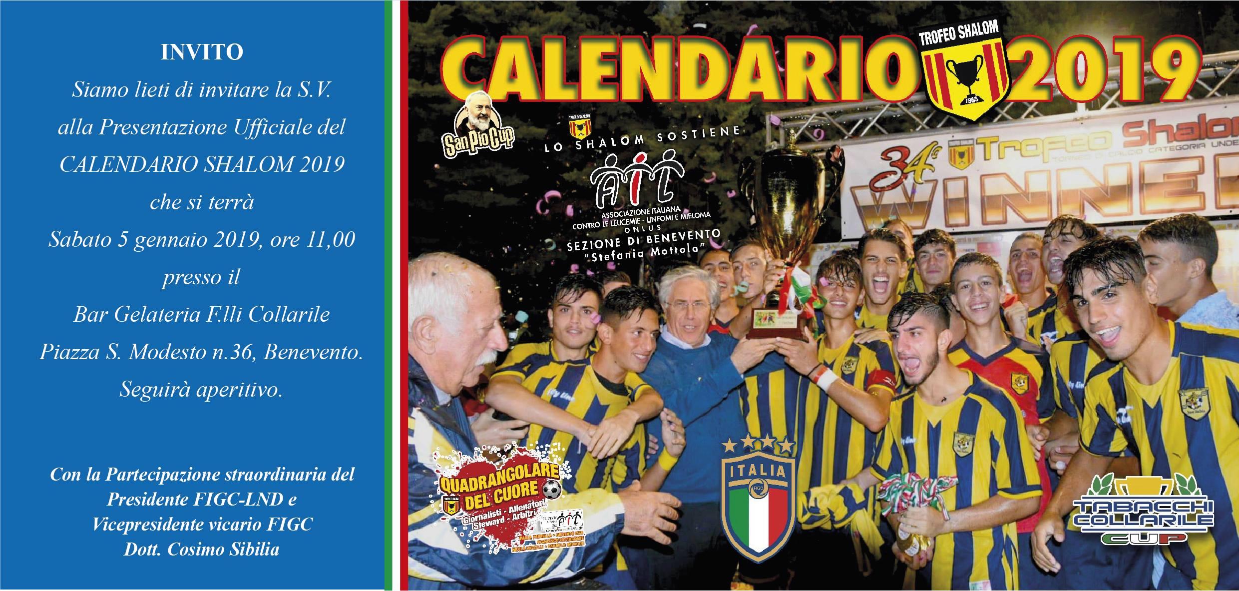 Benevento Calendario.Presentazione Del Calendario Shalom 2019 C E Anche Il
