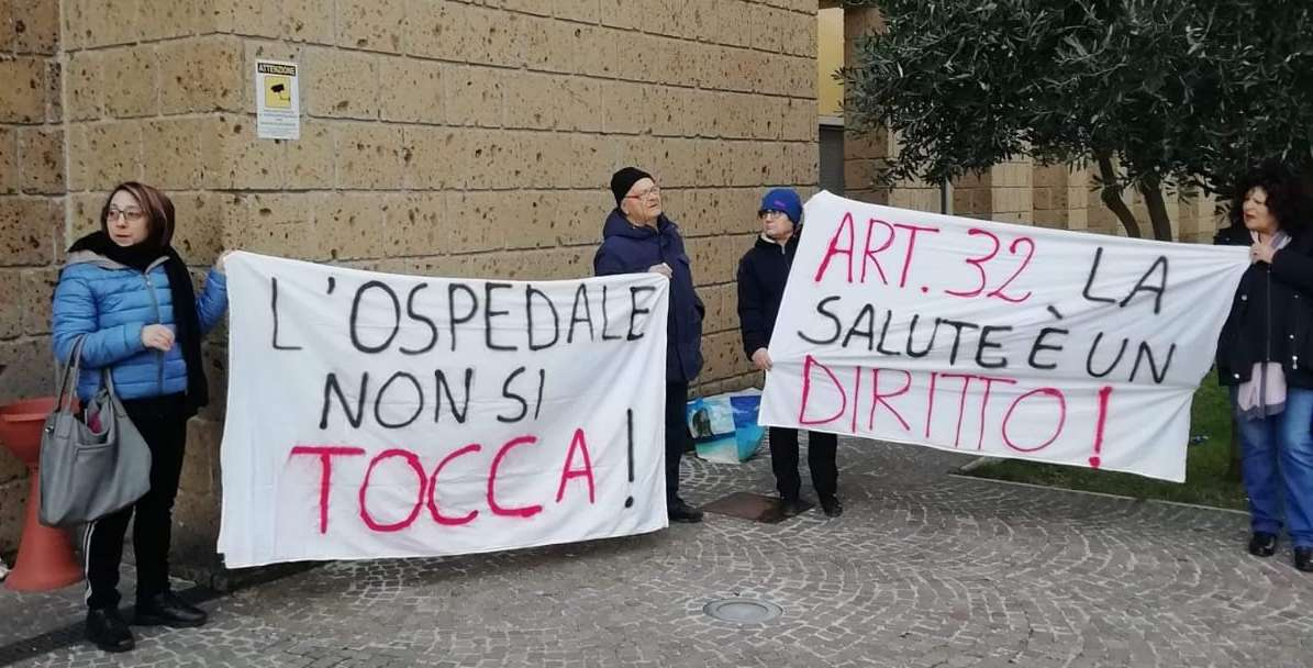 """A Sant'Agata nuovo presidio del comitato Curiamo la Vita: """"Vogliamo un ospedale vero"""""""