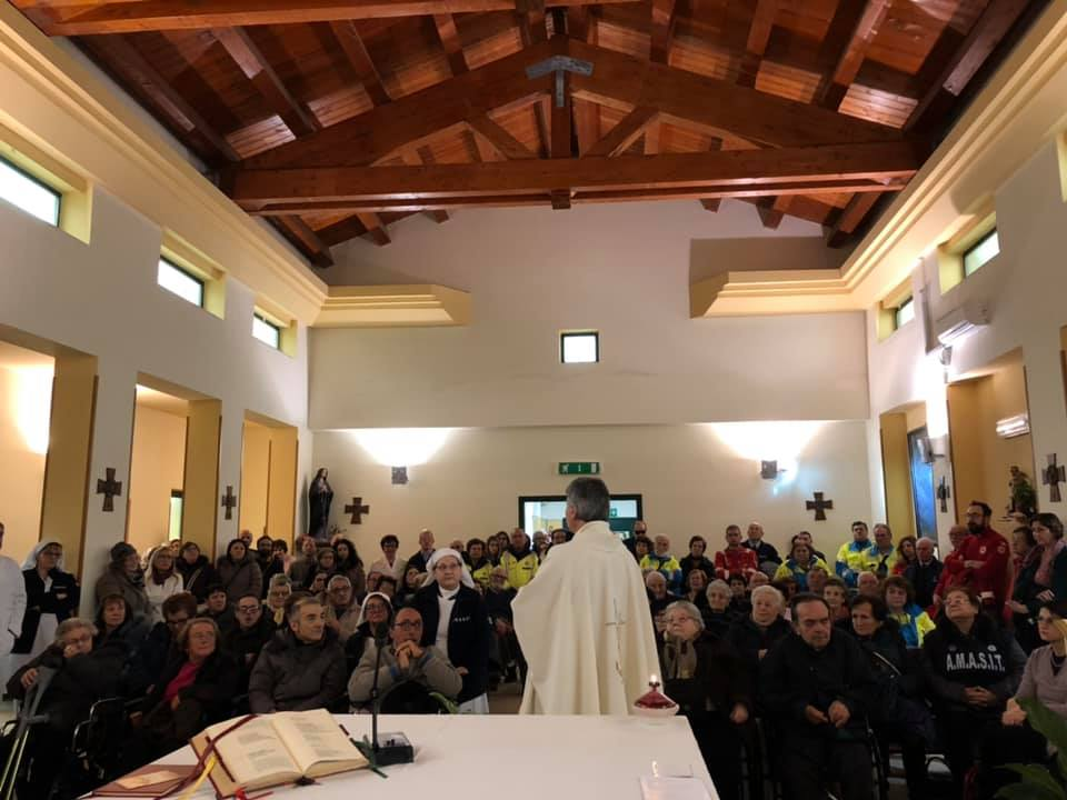 Giornata del Malato, messa del vescovo Battaglia all'ospedale di Sant'Agata de' Goti