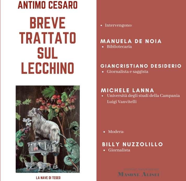"""""""Breve trattato sul lecchino"""", domenica 24 marzo presentazione a Palazzo Paolo V"""