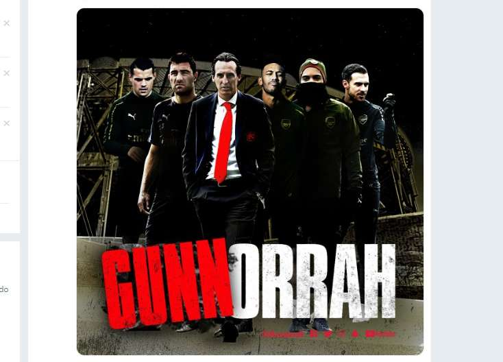"L'Arsenal festeggia ed evoca Gomorra: ""Gunnorrah"""