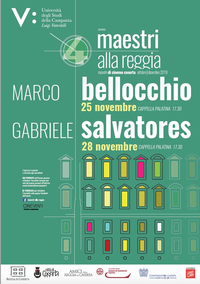 """Bellocchio e Salvatores """"Maestri alla Reggia"""": arriva il grande cinema a Caserta - anteprima24.it"""