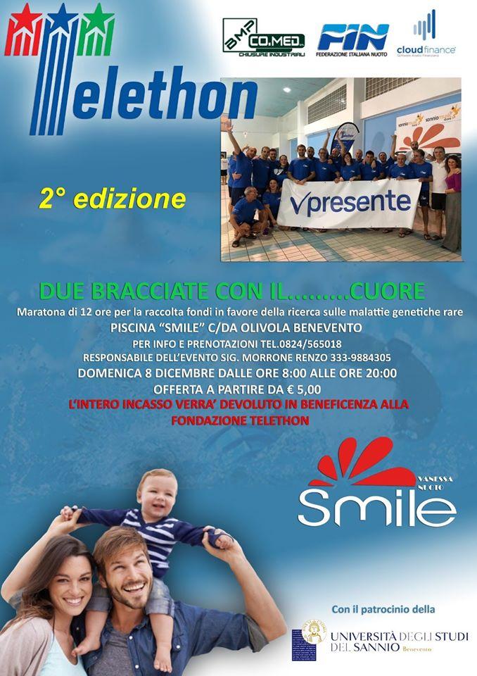 La Piscina Vanessa Smile Sostiene Telethon L 8 Dicembre La 12 Ore Di Nuoto