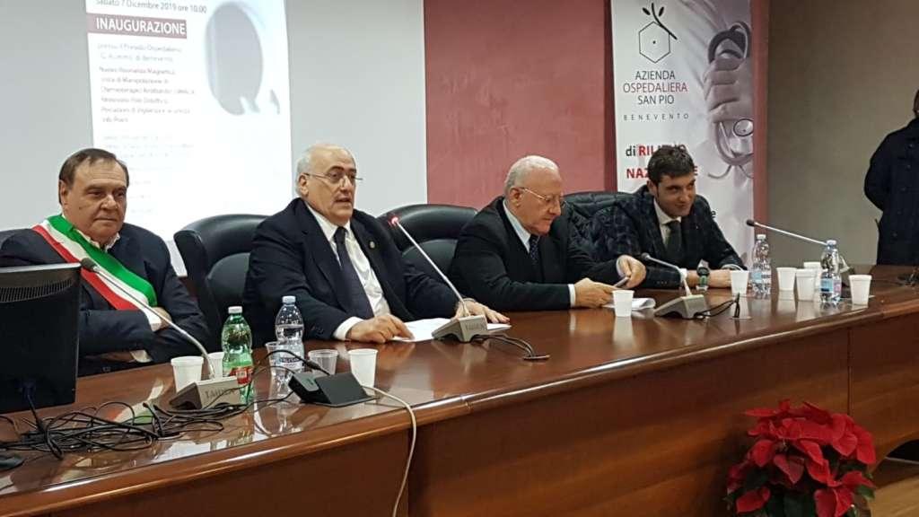 "De Luca al 'San Pio', Mastella: ""Questo ospedale ridà speran"