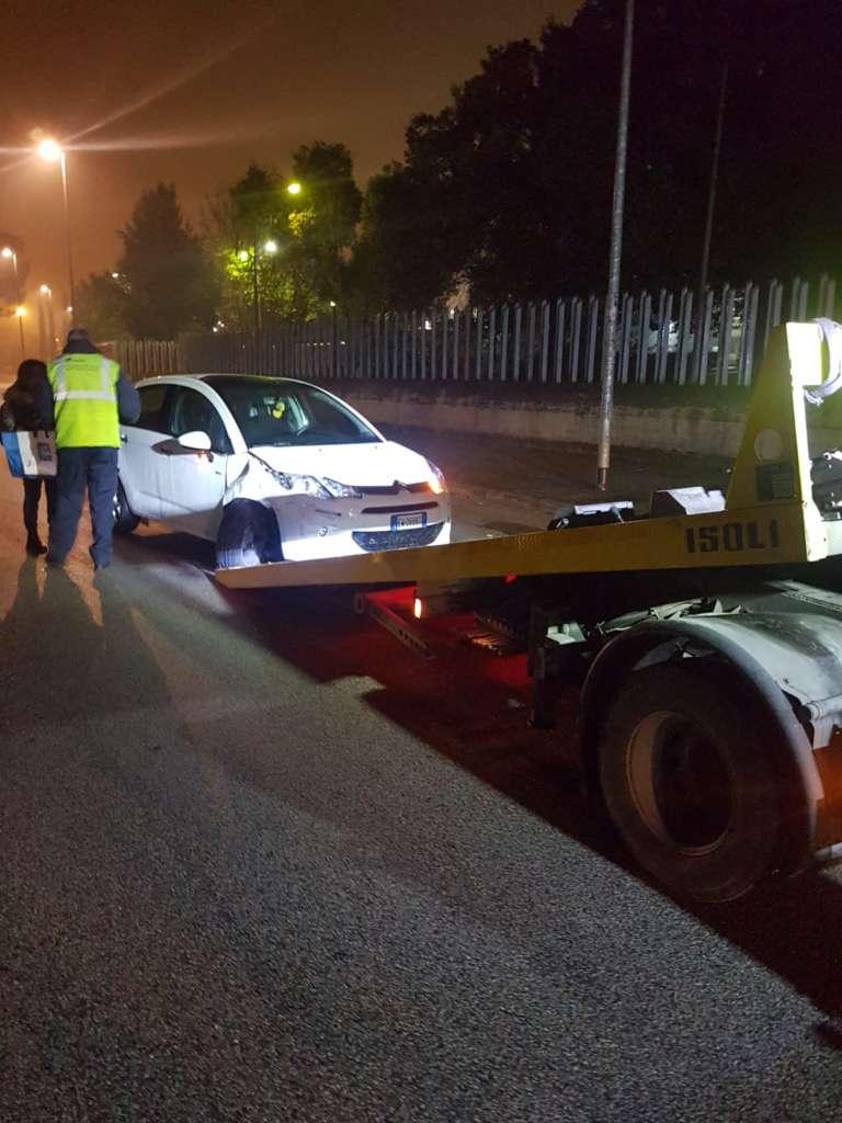Dipendente Trotta Bus trova l'auto danneggiata dopo il turno