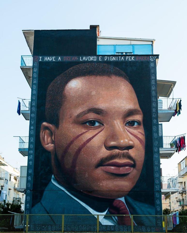 "Martin Luther King a Barra, De Luca: ""Simbolo di libertà e r"