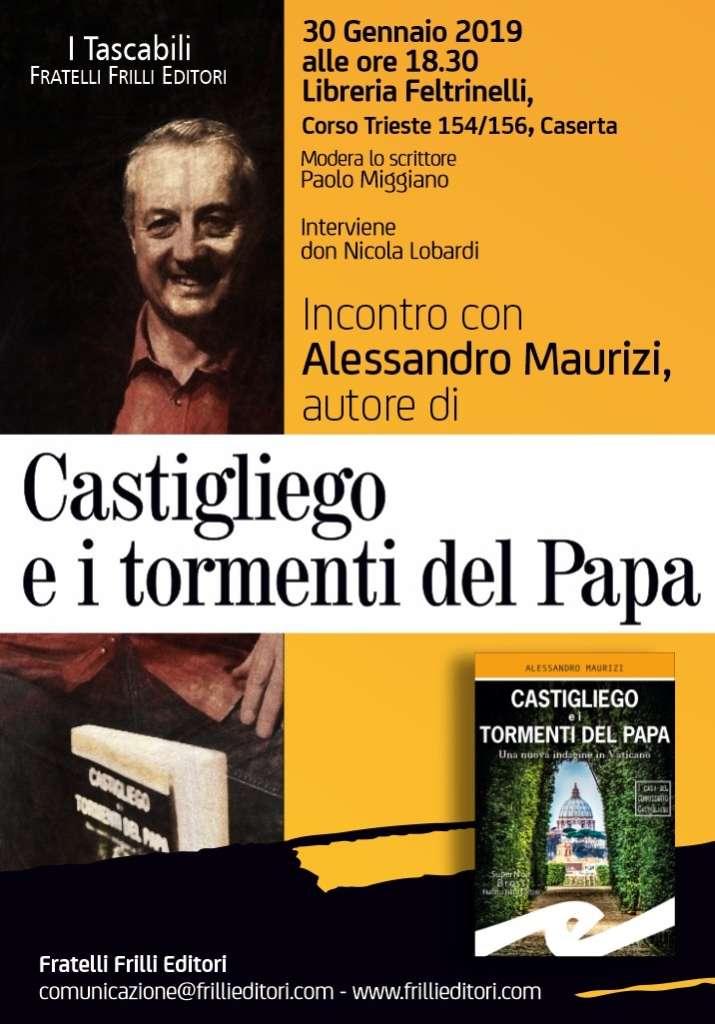 """Alessandro Maurizi presenta il romanzo """"Castigliego e i torm"""