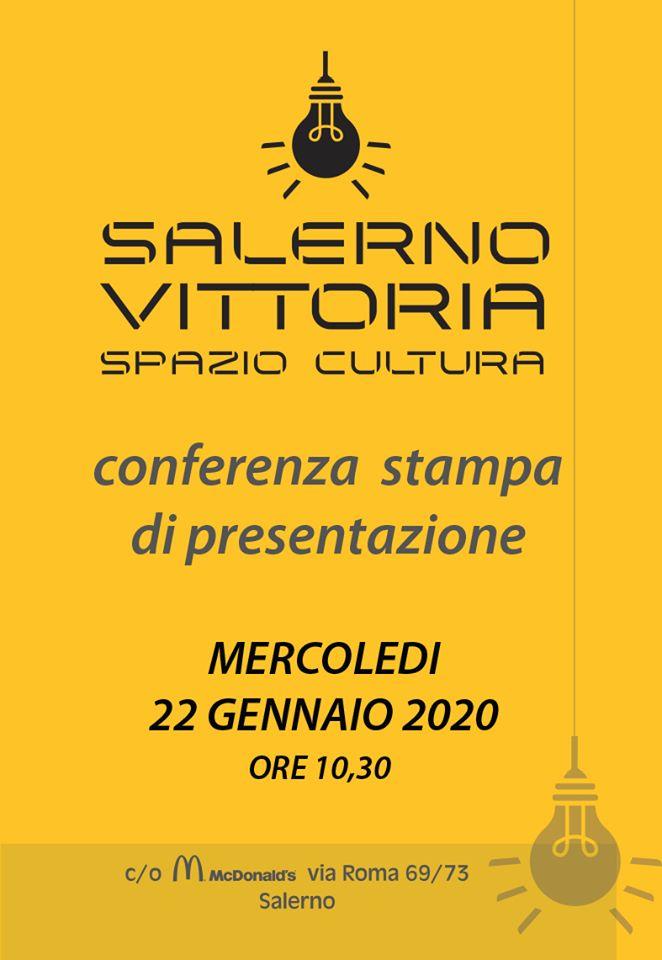 """""""Salerno Vittoria Spazio Cultura""""    mercoledì la presentazione al McDonald's"""